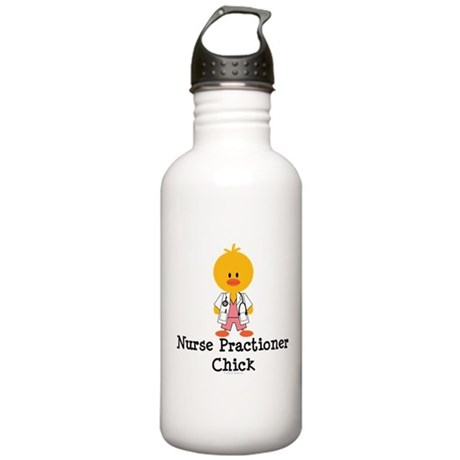 Nurse Practitioner Chick Stainless Water Bottle 1.
