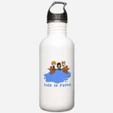 Kids in Forks Water Bottle