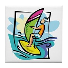 Windsurfing Tile Coaster