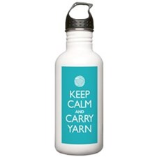 Turquoise Keep Calm and Carry Yarn Bottle 1L Stain