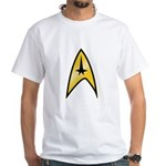 Star Trek Insignia (large) White T-Shirt