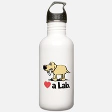 Love a Lab (Yellow)- Water Bottle