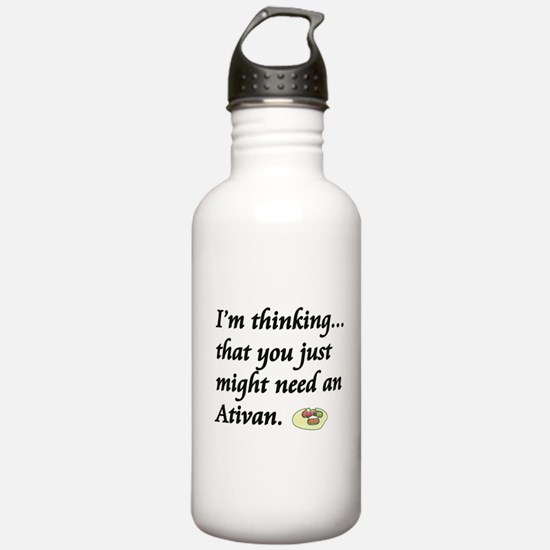Funny Cna Water Bottle