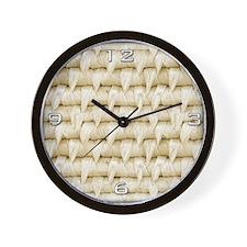 Woven Basket Wall Clock