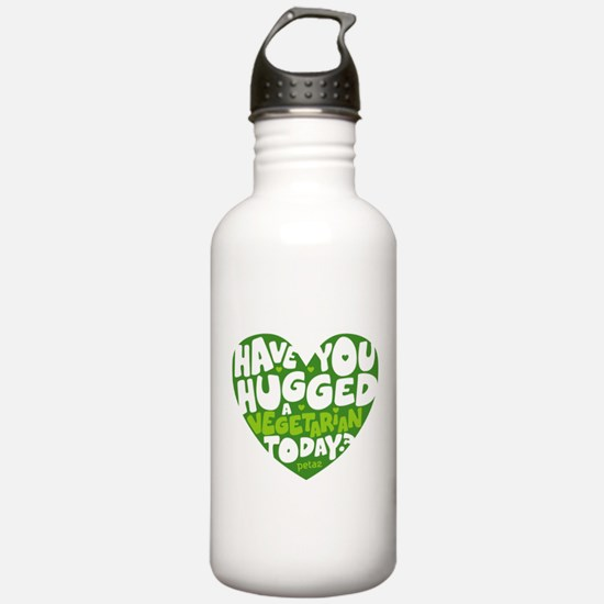 Hug a Vegetarian Water Bottle