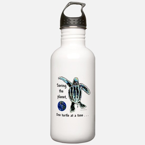 Funny Animals sea turtle Water Bottle