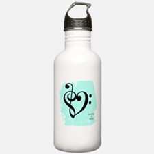 Cool Treble clef Water Bottle