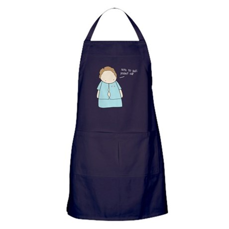 Tiny Fossil Pocket Cup Apron (dark)