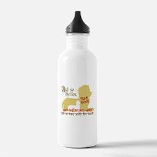 Lion left stupid lamb Water Bottle