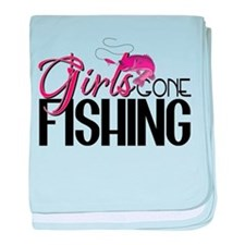 Girls Gone Fishing baby blanket