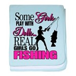 Real Girls Go Fishing Infant Blanket