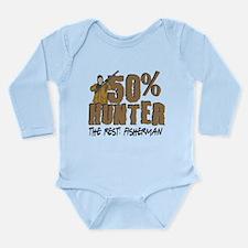 50% Hunter Fisherman Long Sleeve Infant Bodysuit