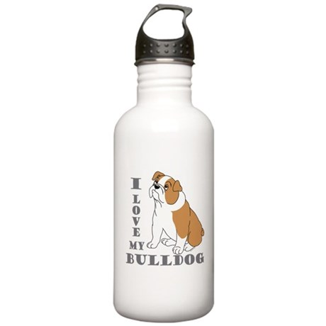Bulldog, Eng. (Brn&wht) Stainless Water Bottle 1.0