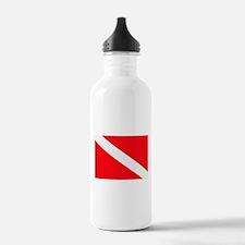 Cute Dive flag Water Bottle