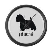 Westie 2 Large Wall Clock