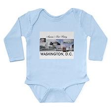 Washington Americasbes Long Sleeve Infant Bodysuit