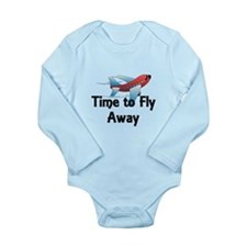 Time to Fly Away Long Sleeve Infant Bodysuit