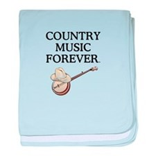 Country Music Forever baby blanket
