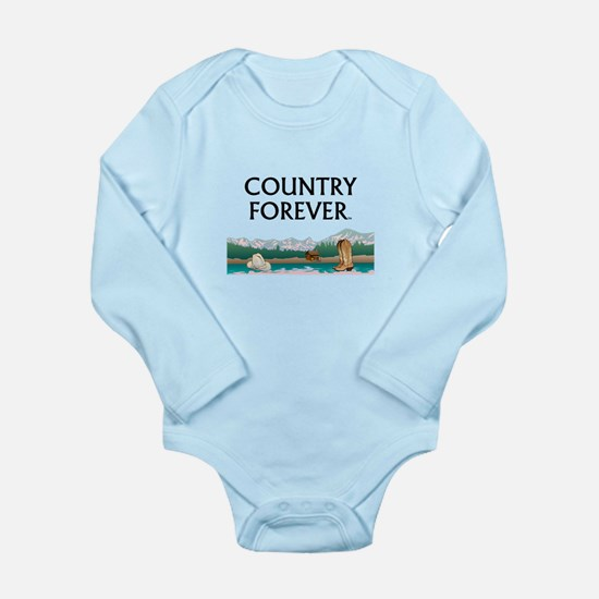 Country Forever Long Sleeve Infant Bodysuit