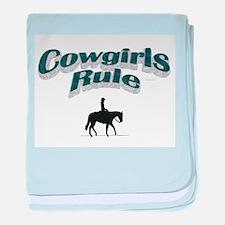 Cowgirls Rule baby blanket