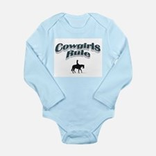 Cowgirls Rule Long Sleeve Infant Bodysuit