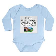Cowgirl Humor Long Sleeve Infant Bodysuit