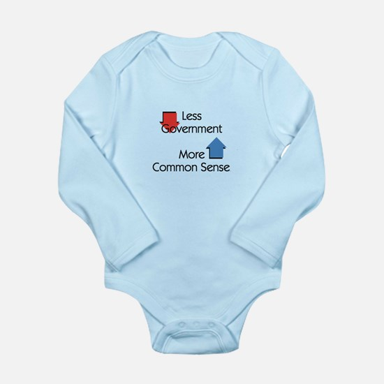 Less Government Long Sleeve Infant Bodysuit