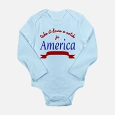 Patriot - Long Sleeve Infant Bodysuit