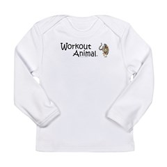Workout Animal Long Sleeve Infant T-Shirt
