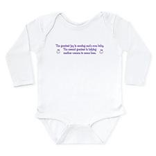 Greatest Joy - Long Sleeve Infant Bodysuit