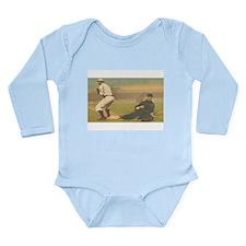 TOP Classic Baseball Long Sleeve Infant Bodysuit