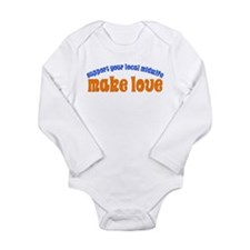 Make Love - Long Sleeve Infant Bodysuit