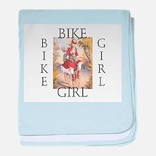 TOP Bike Girl Infant Blanket