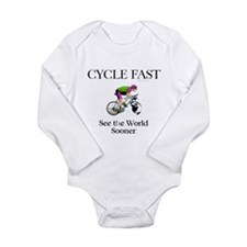 TOP Cycle Fast Long Sleeve Infant Bodysuit