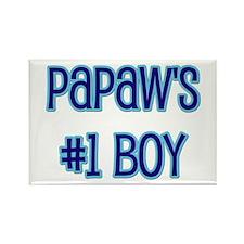 Papaw's #1 Boy Rectangle Magnet