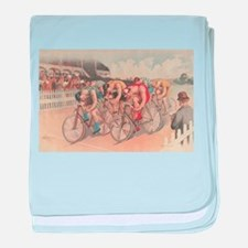 Cycling Race baby blanket