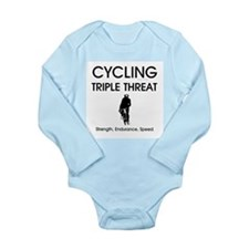 TOP Cycling Slogan Long Sleeve Infant Bodysuit