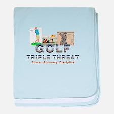 Golf Triple Threat baby blanket