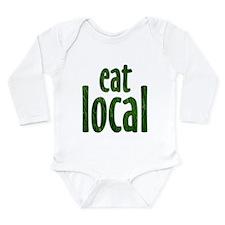 Eat Local - Long Sleeve Infant Bodysuit