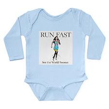 TOP Run Fast Long Sleeve Infant Bodysuit