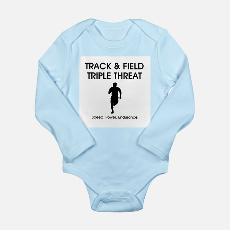 TOP Track and Field Long Sleeve Infant Bodysuit