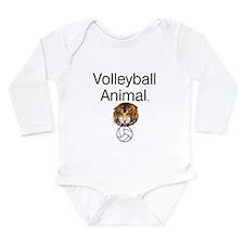 Volleyball Animal Long Sleeve Infant Bodysuit