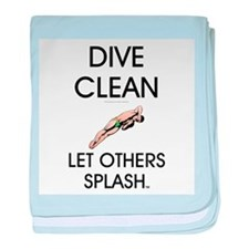 Dive Clean baby blanket
