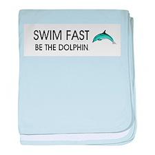 TOP Swim Slogan baby blanket