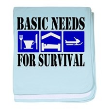Basic Needs for Survival baby blanket