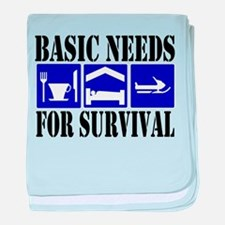 Basic Needs for Survival baby blanket