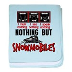 Nothing but Snowmobiles baby blanket