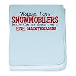 Women Love Snowmobilers Infant Blanket