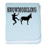 Snowmobiling Kicks Donkey baby blanket