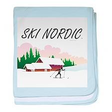 Ski Nordic baby blanket